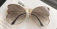 Wholesale linda farrow - Linda Farrow Luxury Fashion Popular Sunglass With Coating Mirror Lens UV Protection Women Designer Vintage Butterfly shape Frame Top Quality