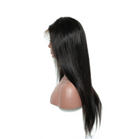 Wholesale straight wig for black online - Straight Human Hair Lace Front Wig with Baby Hair Pre Plucked Brazilian Human Hair Wigs for Black Women Natural Black Color