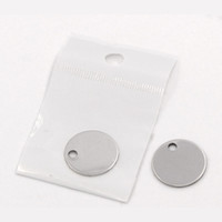 Wholesale stamp blanks for sale - Group buy Lasperal Round Stainless Steel Pendant Stamping Blank Dog Tags Pendants Charm Necklace Diy Jewelry With Package mm Christmas Gift