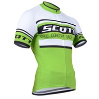 Wholesale yellow scott bicycles - 2018 New SCOTT Summer Cycling Clothing Men Breathable Quick Dry mountain Bike Jersey Bicycle Clothes Wear Cycling Jersey F0203