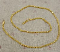 Wholesale plants sand - 50 pieces,Electroplate Vietnam sand Gold Necklaces Hollow chains Safety without stimulation Shining Imitation gold Necklaces Length 16 inch