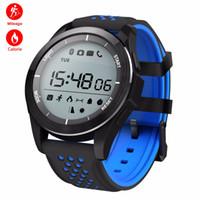 horloge numérique extérieure imperméable à l'eau achat en gros de-Montre intelligente Natation Bracelet de sport Altimètre Horloge Baromètre Montres Numérique En Plein Air Étanche Smartwatch F3 Fitness Tracker