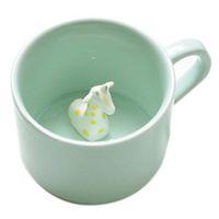 Wholesale Nice Briefs - Wholesale- Creative small ceramic milk mug with animals cute cartoon three-dimensional coffee cup Heat-resistant Celadon cup nice gift