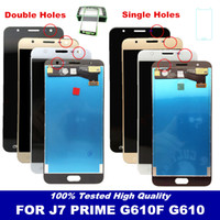 toque samsung prime al por mayor-Para el Samsung Galaxy J7 Prime G610 G610F Pantalla con pantalla táctil digitalizador para J7 Prime On7 2016 G6100 LCD reemplazo