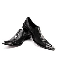 Wholesale wedding dress dragon embroidery resale online - New Black Men Handmade Loafers with Dragon Embroidery USA Style Fashion Party and Banquet Men s Flat