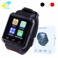apfel iphone 5s gps großhandel-U8 Bluetooth Smartwatch U8 U Uhr Smart Watch-Armbanduhren für iPhone 4 4S 5 5S Samsung s7 HTC Android-Handy Smartphone