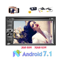 Wholesale full dvd player - Double Din Car Radio In Dash 6.2'' 1024*600 Full HD TouchScreen Android Octa-core Car dvd Stereo GPS Navigation 2GB RAM+32GB ROM Bluetooth
