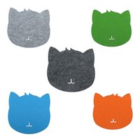 ingrosso pastiglie del mouse sveglie-Etmakit Creative Optical Trackball PC Addensare Mouse Pad Felt Cloth Universale Cute Cat MousePad Mat per Laptop Tablet PC