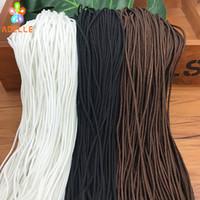 persianas cegas venda por atacado-2mm Trançado Corda De Nylon branco / preto / cores do café cortinas persianas acessório corda do obturador DIY beading cabo frete grátis 95 jardas