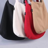 eco tragetaschen shopper großhandel-4 Farben Canvas Tote Einkaufstasche Wiederverwendbare Lebensmittelgeschäft Shopper Taschen Baumwollgewebe Eco Einkaufstasche Bolso Mujer leinwand tas