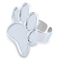 manicura uñas suministros de arte al por mayor-Acero inoxidable Nail Art Beauty Manicure Ring Palette Paleta de dedos DIY Nail Supplies Paleta de uñas