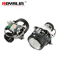 xenon bi projektor linsen großhandel-ROYALIN AL Bi Xenon Scheinwerfer Objektiv D2S Für E46 E39 E60 X5 E70 A3 A4 Mercedes W203 W204 VW Golf GTI Touran