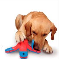 brinquedos educativos ursinhos venda por atacado-Brinquedo do cão Escorrendo Alimentos Bola Volcano Pet Caça ao Tesouro Toy Toy Teddy Brinquedos Educativos Quebra-cabeça de Proteção Ambiental Interação