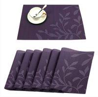 vinyl tischsets groihandel-PVC-Tischsets, waschbares gesponnenes Vinyl Placemat-Western-Matten-Auflage für Speisetisch-hitzebeständige Fleck-beständige Küchen-Tabellen-Matten