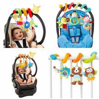 los mejores juguetes para 12 meses. al por mayor-Venta al por mayor-0-12 meses de animales de cochecito musical juguetes para bebés en espiral en Pram Bed Bell Juguete educativo para niños pequeños como los mejores regalos