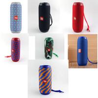 ferngesteuerte lautsprecher großhandel-TG117 drahtloser MiniBluetooth Lautsprecher wasserdicht staubdicht Doppelmembran Bluetooth Stereo im Freien beweglicher Reitsubwoofer Stereo Freier DHL