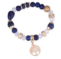 Wholesale united life - 2018 New arrival United States diy tree of life beads bracelet stretch fashion bracelets NK 166