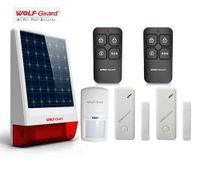 Wholesale outdoor alarm siren - Wolf-Guard 120db Solar Siren Simple Security Alarm Burglar System Outdoor Weather-Proof Siren PIR Motion Door Windows Sensor Remote Control