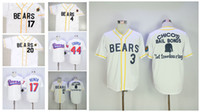 Wholesale Movie Films - Mens The BASEketball Beers Movie #44 Joe COOP Cooper Button Down White retro 17 Doug Remer film Collection baseball jerseys