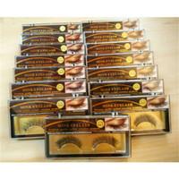 el yapımı kalın sahte yanlış kirpikler toptan satış-3D Vizon Yanlış kirpik 15 Stilleri El Yapımı Güzellik Kalın Uzun Yumuşak Vizon Kirpikler Sahte Göz Lashes Kirpik 3001081
