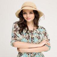 strand hut modelle großhandel-2019 Explosion Modelle weibliche Hüte Rafi Sommer Sonnenschutz Hüte großen Strand Strand Schatten faltende Sonnenhut