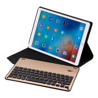 алюминиевый беспроводной bluetooth ipad оптовых-Тонкая клавиатура Folio крышка со съемным алюминиевая Bluetooth для IPad Pro 10,5-дюймовый беспроводной клавиатурой Bluetooth Teclado