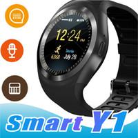 bluetooth cep telefonu izle toptan satış-U1 Y1 smart smartwatch android smartwatch için Samsung cep Telefonu İzle bluetooth ile apple iphone için perakende paketi ile U8 DZ09 GT08 ile
