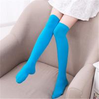 Wholesale wholesale nylon socks for girls - Children Girls Socks High Knee Stocking For School Girls Stocking Nylon Lovely Baby Stocking Winter Fall Socks Free DHL