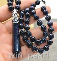 ingrosso blu guarisce-Collana con pietra esagonale di guarigione di Chakra Reiki Venus in pietra blu