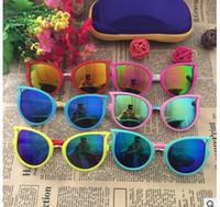 Wholesale frame glasses eye for kids for sale - Group buy 2018 Children Sunglass Fashion For girl Cat Eye angel wings orange cute kid sunglass UV400 girls glass