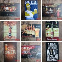 Wholesale home decorating paintings for sale - Group buy Beer Pub tin sign Wall Decor Vintage Craft Art Iron Painting Tin Poster Cafe Shop Bar Club Home Decorate