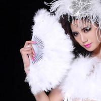 гусиные перья оптовых-Стильный мягкий пушистый свадьба рук вентилятор гусиное перо вентилятор платье костюм танец реквизит бесплатная доставка