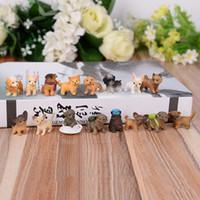 ingrosso ornamenti da giardino cane-Bella Mini Phone Hanger FAI DA TE Artificiale Pet Dog Toys Manuale In Resina Micro Paesaggio Artigianato Ornamento Bonsai Casa Garden Decor 1 45xz bb