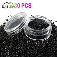 açık plastik kavanoz kapakları toptan satış-80X5g Temizle Boş Oje Şişeleri Küçük Plastik Örnek Konteynerler Mini Kavanoz Kapaklı Kozmetik Pot Kutusu Tozu Glitter Sanat