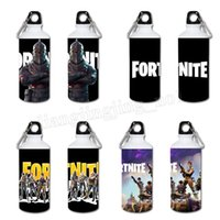 Wholesale print water bottles - 84 colors 600ml Game Fortnite Cosplay aluminium printing sports water bottle high temperature resistance water bottle MMA172