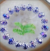 facettierte armbänder großhandel-Neu Kommen Polychromatische Kristallglas Facettierte Perle Stretchy Armband Kristall Armreif Damenschmuck