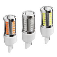 lampe rouge achat en gros de-T20 7440 W21 / 5W 33 feux de freins automatiques SMD 5630 5730 LED 21 / 5w voiture DRL lampe d'arrêt de conduite ampoules clignotants rouge blanc orange DC 12V