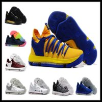 Wholesale Women Home Shoes - KD 10 Home kids men women sales Basketball shoes free shipping Top Quality Kevin Durant sneakers store Drop Shipping US5-US12