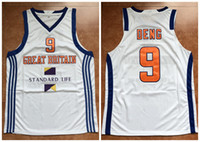 eb24802ac17 #9 LUOL DENG GREAT BRITAIN - EURO BASKET QUALIFICATIONS 2011 LITHUANIA Retro  Basketball Jersey Mens Custom any Number and name Jerseys