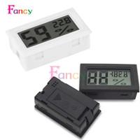 indicador de temperatura interior al por mayor-Mini LCD Digital Termómetro Higrómetro Temperatura Interior Conveniente Sensor de temperatura Humedad Medidor Instrumentos