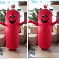 vizyon maskot kostümleri toptan satış-yetişkin için iyi vizyon jambon sosis maskot kostüm gerçek fotoğraf satılık