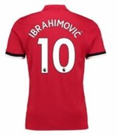 Wholesale Grey Tops - Customized Thai Quality 17-18 new 10 IBRAHIMOVIC Soccer Jerseys Shirt Tops, 9 LUKAKU,6 POGBA,19 RASHFORD,7 ALEXIS Soccer Jersey Tops Shirt