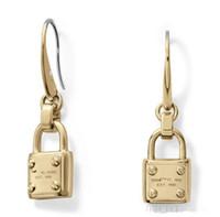 Wholesale Gem Studded - 2018 hot sale!!! m brand Studded M*k letters stud earrings m series Studded MK letter earrings fashion M*K gem lock earrings