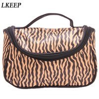 модные сумки для макияжа оптовых-Professional Cosmetic Case Bag Large Capacity Portable Women  Cosmetic Bags Fashion Leopard Print Storage Travel Bags