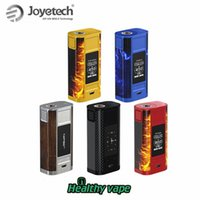 Wholesale joyetech electronic cigarette mods - Original Joyetech CUBOID TAP 228W TC Box MOD Power Clock Temp USB Charge mode vape electronic cigarette