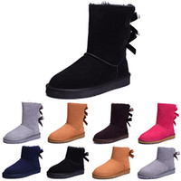 Wholesale womens knee high pvc boots resale online - Australia Classic WGG women winter boots chestnut black grey navy blue designer womens snow boots ankle knee boot size