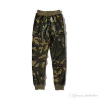 Wholesale wild pants - Europe and the United States 2018 New Men's Casual Camo Pants Trousers Green Camo Wild Casual Thin Pants