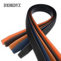 Wholesale black gold wide belt - 2017 H Luxury Designer Belt Men's high quality leather belt leather 3.6 cm, no H buckle 1