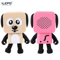 Wholesale Cartoon Mini Mp3 Player - Cartoon Dog Dancing Bluetooth Speaker Mini Wireless Music Player Portable Cartoon Subwoofer Stereo Music With Mic Retail Box Better Charge 3