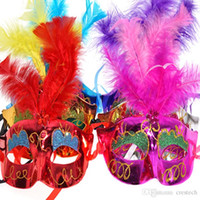 Wholesale phoenix masks for sale - Group buy Mixed color Halloween LED Facial mask Masquerade Cosplay halloween phoenix princess elegant handsome type make up your wonder life